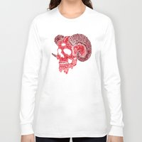 ram Long Sleeve T-shirts featuring Damn Ram by Josh Ln