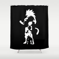 goku Shower Curtains featuring Goku Transformations by Prince Of Darkness