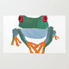 Tree Frog, Collage Rug