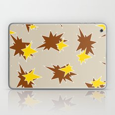 Stars (Brown & Gold on Sand) Laptop & iPad Skin
