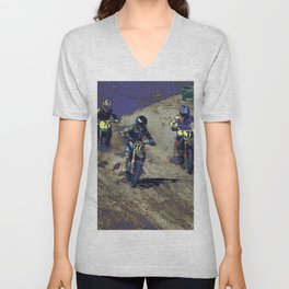 The Home Stretch - Motocross Racers Unisex V-Neck