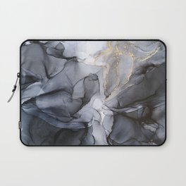 Calm but Dramatic Light Monochromatic Black & Grey Abstract Laptop Sleeve