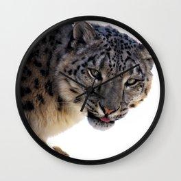 Léopard des neiges Wall Clock