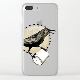 Crows Love CAW-FEE Clear iPhone Case