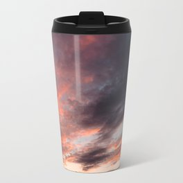 Colourful Sunset Clouds - Anglesey, North Wales Travel Mug