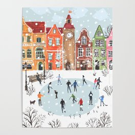 winter town Poster