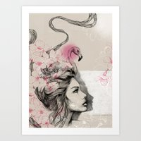 Art Print featuring Pink dreams by Podessto