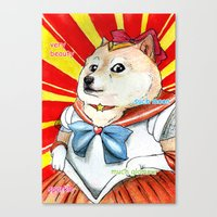 doge Canvas Prints featuring Sailor Doge by Michael Thomas Grant