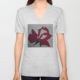 Handmade drawing of flower Unisex V-Neck