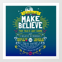 Gamer Geek Chic Earthbound Mother Inspired I Believe in You! Art Print
