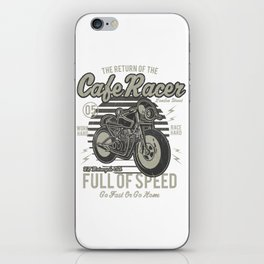 Caferacer Motorcycle Vintage Poster iPhone Skin