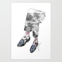 Shoesed coolness Art Print