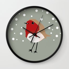 Christmas Robin Wall Clock