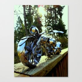 The Owl Faded- Spoon Motorcycle by James Rice Canvas Print