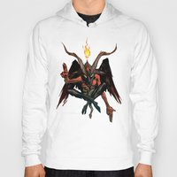 baphomet Hoodies featuring BAPHOMET by Lowell Isaac
