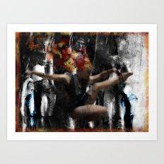 Dancing Her Demons Away #2 Art Print