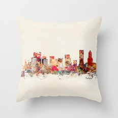 portland oregon skyline Throw Pillow