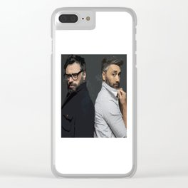 Jemaine and Taika Clear iPhone Case