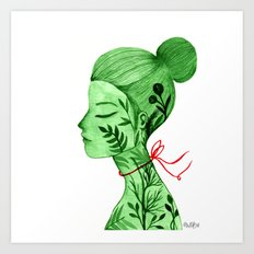Miss Flora Art Print