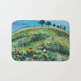 The Flower Fields Bath Mat