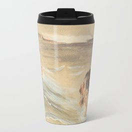 Male and Female Bathers Travel Mug