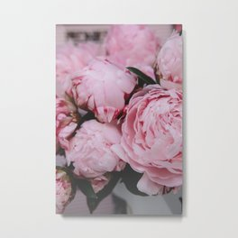 Pink Flowers Photography Metal Print