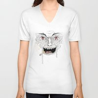 psycho V-neck T-shirts featuring Psycho by Davies Babies