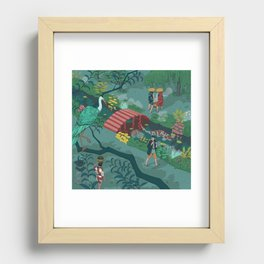 Ukiyo-e tale: The beginning of the trip Recessed Framed Print