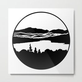 Lafayette and Franconia Notch from Shadow Lake Metal Print
