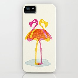 Angry Animals - Flamingobrella iPhone Case