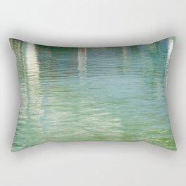 Aqua Abstract Flow Rectangular Pillow