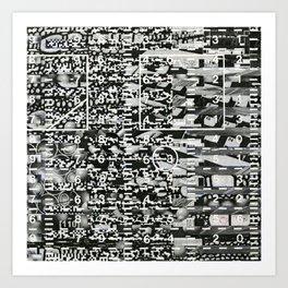 Variance Police (P/D3 Glitch Collage Studies) Art Print