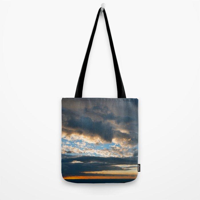 Vibrant Sunrise Cloudscape Tote Bag