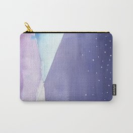 Snowy Landscape Abstract Carry-All Pouch