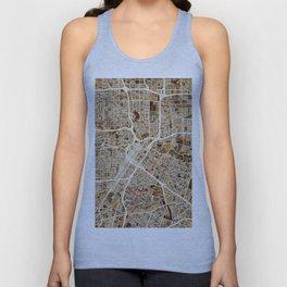 Houston Texas City Street Map Unisex Tank Top