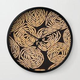 Wood planks texture Wall Clock
