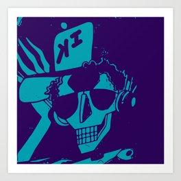 Esqueleto buena onda Art Print