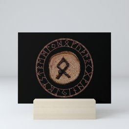 Othala Rune ancestral property, one's homeland or a sense of physical, mental, emotional, spiritual Mini Art Print