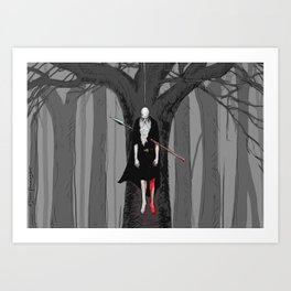 The Hanged God Art Print