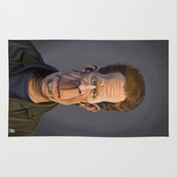 celebrity Area & Throw Rugs featuring Celebrity Sunday ~ Tom Waits by rob art | illustration