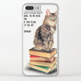 Cat Quote By Ernest Hemingway Clear iPhone Case