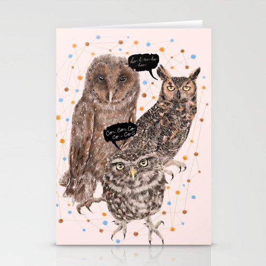 h'Hoo-hoo Stationery Cards