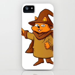 wizard cat. iPhone Case