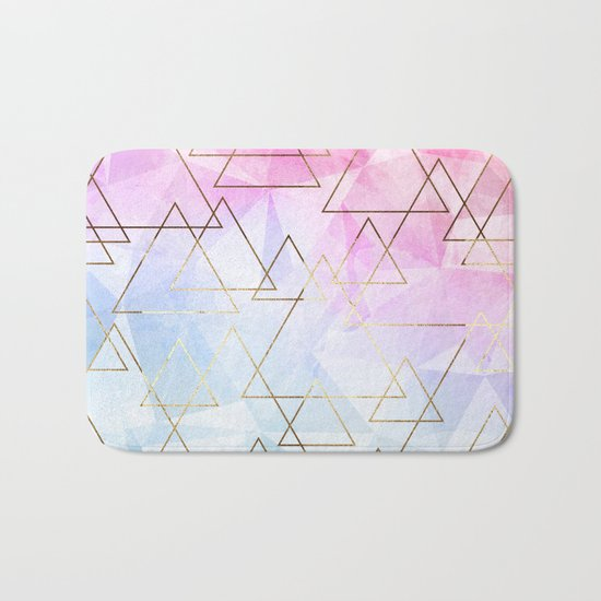 Collage geometric Bath Mat