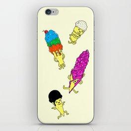 Dancing ice-cream iPhone Skin