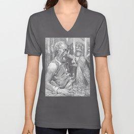 Don Quixote graphic | Quijote by Cervantes - Fine Art prints Unisex V-Neck
