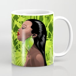 Woman African Beauty and Bamboo Coffee Mug