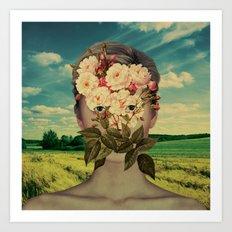 A Flower Girl 2 Art Print
