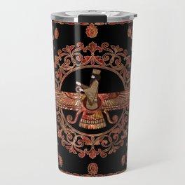 Farohar - Faravahar - Fravashi Marble and Gold Travel Mug