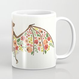 Floral Fruit Bat Coffee Mug
